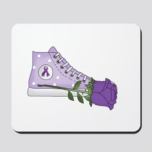 Walk a Mile in My Shoes Lupus Black Mousepad