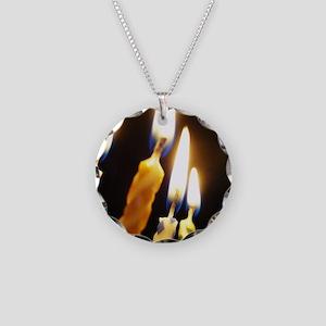 16x20_happybirthdaycandles Necklace Circle Charm