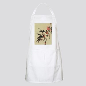 Hiroshige Swallows and Peach Blossoms SC Apron