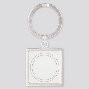 Peace Row White Square Keychain