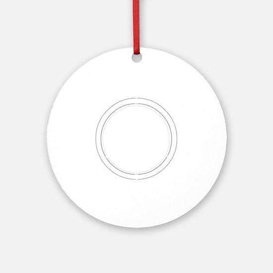 Peace Row White Round Ornament