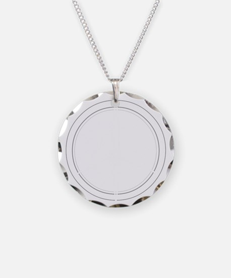 Peace Row White Necklace