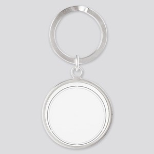 Peace Row White Round Keychain