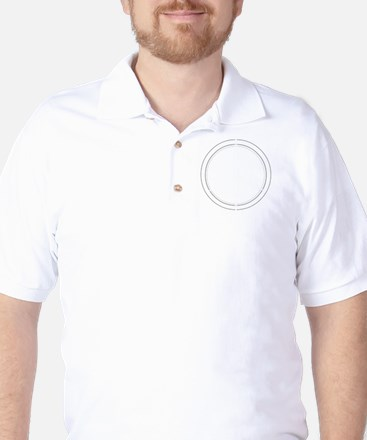 Peace Row White Golf Shirt