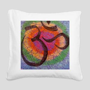 chakraomlrge Square Canvas Pillow