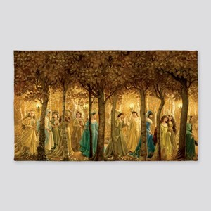 THE 12 DANCING PRINCESSES 3'x5' Area Rug