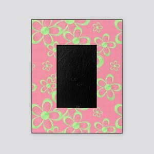 Pink and Green Flowers Picture Frame