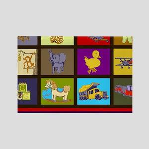 BabyBoyBlocksWithABCsSide1_032111 Rectangle Magnet