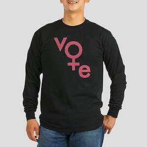 Women Vote Long Sleeve Dark T-Shirt