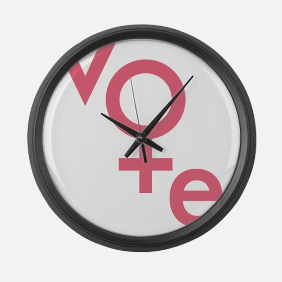 Women Vote Large Wall Clock
