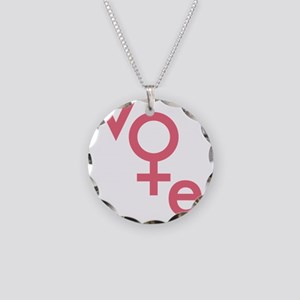 Women Vote Necklace Circle Charm