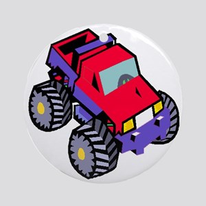 truck toddler tee Round Ornament