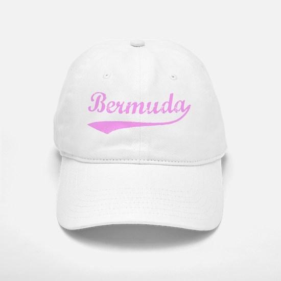 Vintage Bermuda (Pink) Baseball Baseball Cap