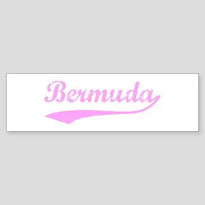 Vintage Bermuda (Pink) Bumper Sticker