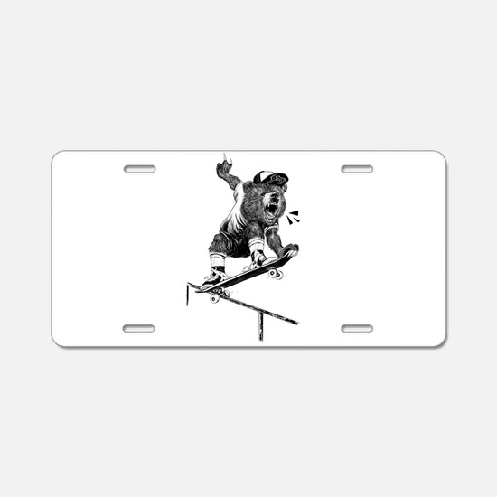 Unique Skateboarder Aluminum License Plate