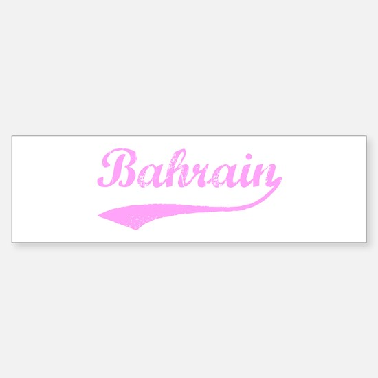 Vintage Bahrain (Pink) Bumper Bumper Bumper Sticker