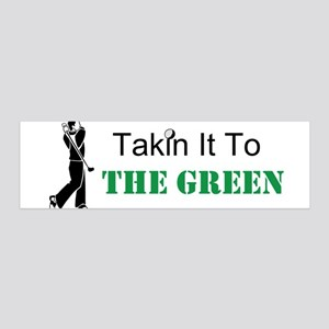 Takin It To The Green Golf Wall Decal