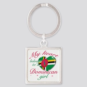 dominican. girls Square Keychain