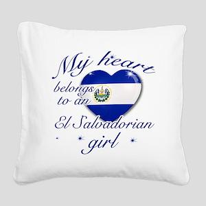 El salvadorian girl Square Canvas Pillow