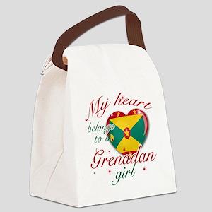 grenadan girl Canvas Lunch Bag