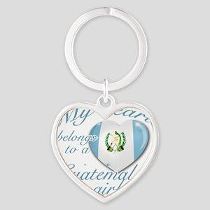 guatamelan girl Heart Keychain