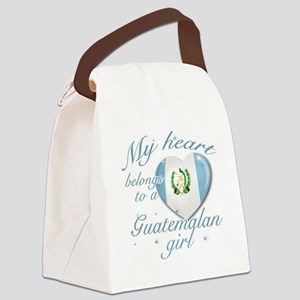 guatamelan girl Canvas Lunch Bag