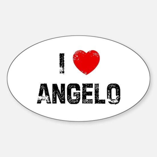 I * Angelo Oval Decal