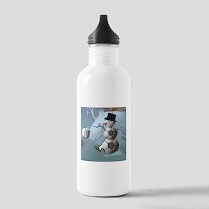 Soccer Christmas Snowman Stainless Water Bottle 1.