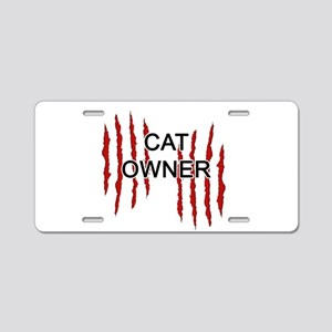 Cat Owner Claws Aluminum License Plate