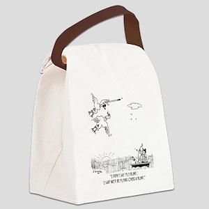 5350_blind_cartoon Canvas Lunch Bag