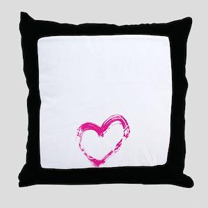 high voltage line wife black shirt Throw Pillow
