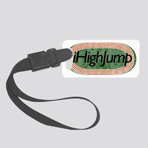 i High Jump Track and Field Small Luggage Tag