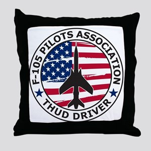 F105pilotsassoc Throw Pillow