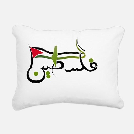 Palestine-writing Rectangular Canvas Pillow