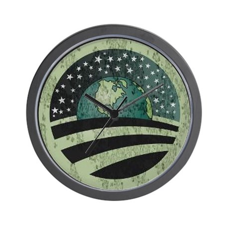 Obama Earth Logo Wall Clock