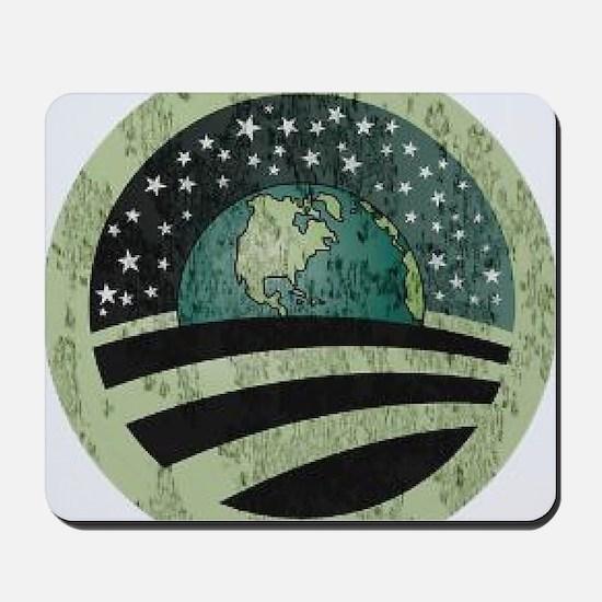 Obama Earth Logo Mousepad