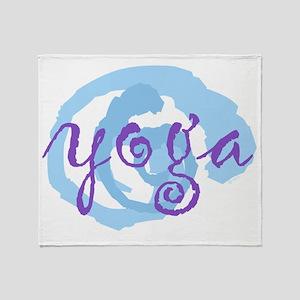 cp yoga swirls purple blue large opt Throw Blanket