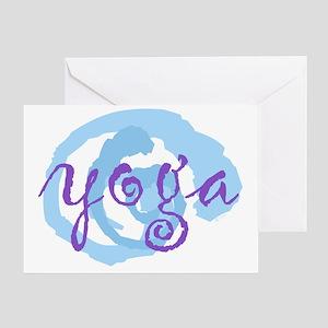 cp yoga swirls purple blue large opt Greeting Card