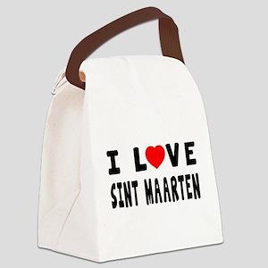 I Love Sint Maarten Canvas Lunch Bag
