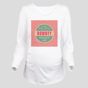 apr12_wwf_romney Long Sleeve Maternity T-Shirt