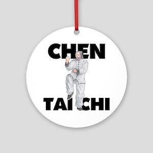 ChenWhiteapeLight Round Ornament