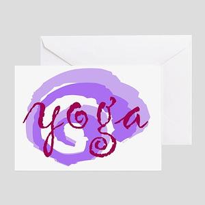 cp yoga swirls red purple opt Greeting Card