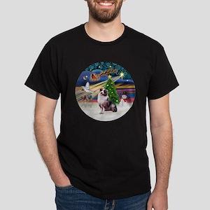 XmasMagic-AussieShep1 Dark T-Shirt