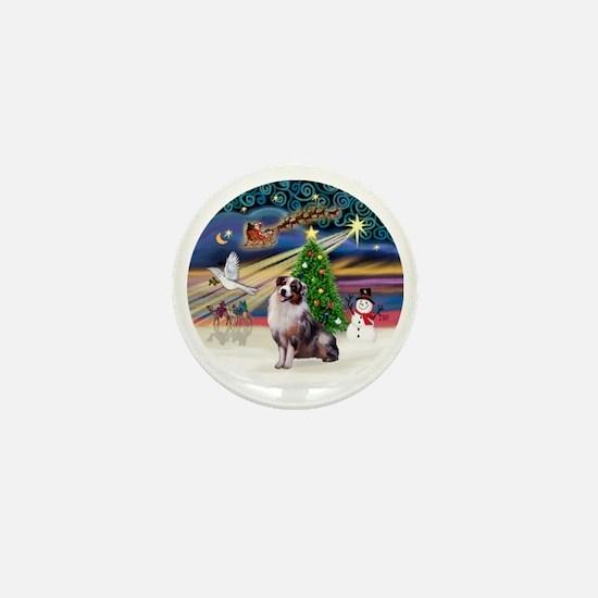 XmasMagic-AussieShep1 Mini Button