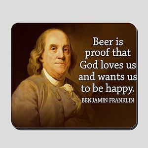 Ben Quote Beer Mousepad