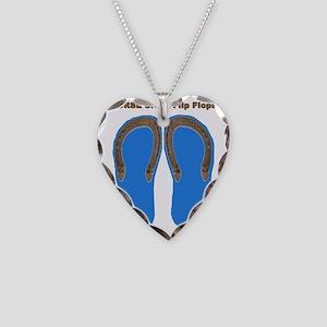 horse shoe blue Necklace Heart Charm