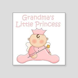 "grandmas little princess Square Sticker 3"" x 3"""