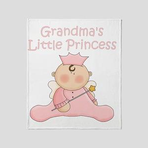 grandmas little princess Throw Blanket