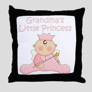 grandmas little princess Throw Pillow