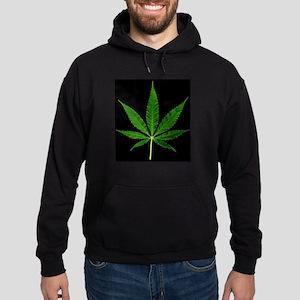 Black Marijuana Plant Hoodie